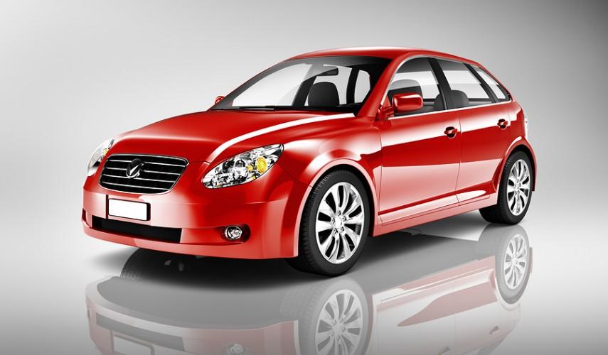 Shape Red 3D Sedan